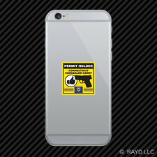 Connecticut Concealed Carry Permit Holder Cell Phone Sticker Mobile 2a permited