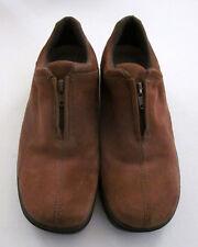 EASY SPIRIT Women's Tan Leather Low Heel Zip Closure Comfort Shoes Size 10 M