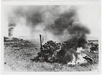 Abgeschossenes, englisches Flugzeug. Orig-Pressephoto, von 1940