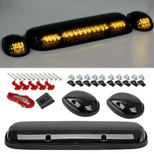 3PC Smoke Cab Roof Running Amber LED Lights for Chevy Silverado 02-07 for GMC