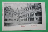 Sachsen AK Dresden 1900 Königlicher Schloßhof Gebäudeansicht Architektur Kunst +