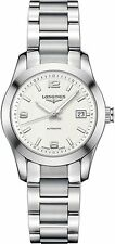 L22854766 Longines Conquest Womens Watch Automatic Silver Dial Stainless Steel