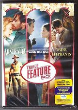 Australia Walk the Line Water for Elephants DVD 3-Movie Collection BRAND NEW