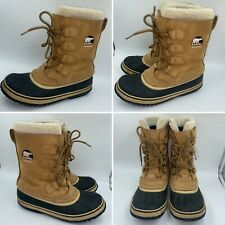 🌟SOREL CARIBOU BROWN WATERPROOF LACE UP SNOW BOOTS Size EU 38 UK 5 Womens