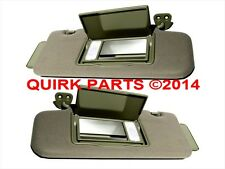 2006-2007 Nissan Murano Right & Left Sun Shade Visors Set Of 2 Beige Tan OEM NEW