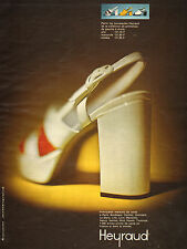 Publicité  Advertising 1973  Chaussure Heyraud sandale soulier collection mode