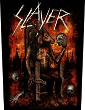 SLAYER - Devil on throne Rückenaufnäher Backpatch