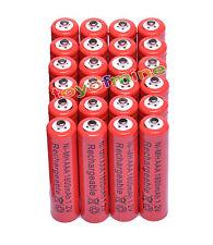 24x Color rojo AAA 1800mAh 1.2V Ni-MH recargable 3A batería para MP3 RC Juguetes