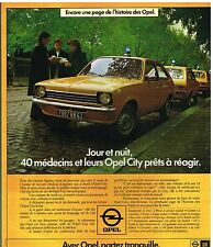 Publicité Advertising 1976 Opel City