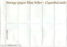 10x Cigarette Trade Card, STORAGE PAGES, Choice of Size