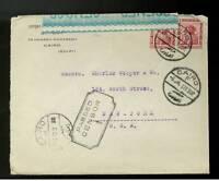 1941 Cairo Egypt Censored Cover to USA