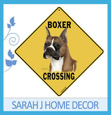 Boxer Dog Crossing Aluminium Road Sign Pet Hang Indoors or Outdoors Animal *New*