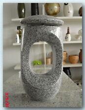 Grablampe, Grablaterne, Grabschmuck, Granit, D15x28cm, China Grau, Neu!!