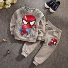 Cartoon Toddler Boys Kids Spiderman Tracksuits T-shirt Pullover+Pant Outfits Set