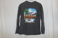 Vintage Harley Davidson Long Sleeve Shirt Large Black Pineda Rocketship