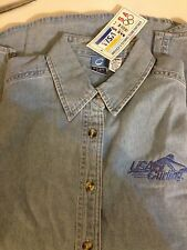 USA Curling Ladies Collared Denim Button Up Polo LADIES SMALL (S)