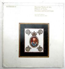 RUSSIAN WORKS OF ART SOTHEBY'S JUNE 1983 AUCTION CATALOG