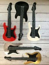 5 Die-Cut Electric Guitars Card Making Scrapbook Craft Embellishments Mix Colour