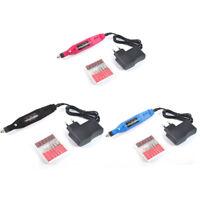 Pro Electric Nail Drill File Finger Toe Polish Manicure Pedicure kit Set Tool