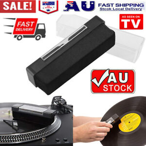 Vinyl Record Cleaning Brush Set Stylus Velvet Anti-static Cleaner Kit 2 in1 AU~!