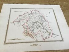 Antique Map Aylesbury Showing Boundary Of Borough By S Lewis C 1835 Walker
