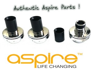 (3-2-1 Pack) Genuine Official Aspire Pockex Drip Tips & Retaining Base /Top Caps