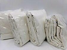 "Pottery Barn Emery Linen Blackout Curtain Drape Panel 50 x 96"" Ivory S/4 #7460B"