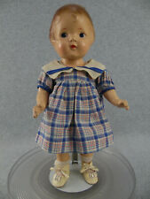 "14"" vintage composition unmarked PATSY type doll in original outfit TLC"