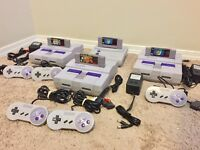 *REFURBISHED* Super Nintendo SNES System Console Bundle w Cords, Choice of Game