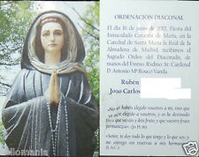 ESTAMPA RELIGIOSA ROUCO VARELA EN ORDENACION SACERDOTAL 2012 HOLY CARD    CC742