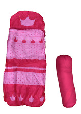 Kids Children Princess Sleeping Bag Pink With Easy to Store Carrying Bag