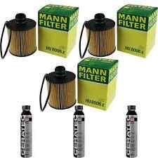 3x MANN-FILTER Ölfilter HU 8006 z + 3x LIQUI MOLY Cera Tec 3721