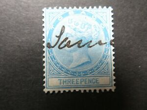 1879 Tobago 3d Blue SG2 Used