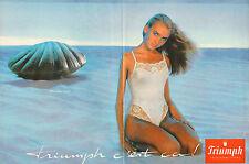 Publicité  Print AD 1995  (Double page)  Lingerie Triumph nuisette