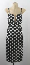 NWT Size S 10 Ladies Black Dress Pencil Evening Cocktail Chic Wedding Retro