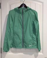 Eddie Bauer Lightweight Rain Jacket Women's Medium Green