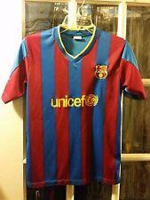 FC Barcelona Soccer Futbol Jersey Adult Small FCB Unicef Spain Messi Barça Xavi