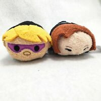 Marvel Disney Tsum Tsums Black Widow Hawkeye Mini Plush Character Toy Set of 2