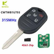 Remote Key Control Fob 5 Button 315MHZ 4D63 Chip for Ford Explorer CWTWB1U793