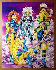 X-Men Woman Jean Grey Rogue Jubilee Marvel Comic Poster by Art Thibert