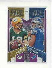 2018 Elite Face to Face Purple #6 Aaron Rodgers/Matthew Stafford /75