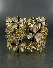 Gold Flower Crystal Accent Bracelet