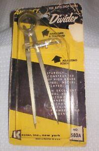 Vintage Kastar AKURET Bow Compass Divider +adjusting screw Engineering Drafting