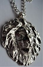 Solid Sterling Silver The Lion Pendant Necklace