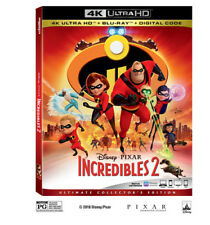 Disney Pixar Incredibles 2 4k Ultra HD Blu Ray 3 Disc Set Slipcover Sleeve