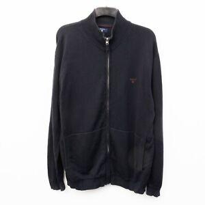 GANT Men's 3XL Jumper Cardigan Sweater Cotton Full Zip Knitted Jacket Top Navy