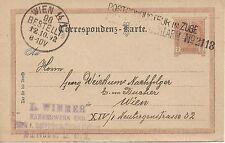 2 Kreuzer Ganzsache braun 1892 Postconducteur im Zuge No. 2118 nach Wien