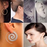New Dazzling Women Lady Rhinestone Crystal Earrings Ear Hook Stud Jewelry Gift