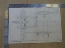 Aircraft Technical Drawings, Northrop P61 Black Widow and Douglas A-26B Invader