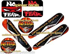 NO FEAR Pinball Cushioned Target Protectors/(3) Flipper Armour Spinners